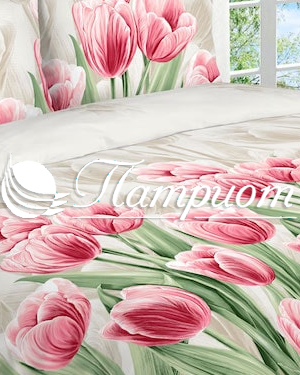 КПБ 2.0 спальный с Евро простыней, набивная бязь 125 гм2 3011-1