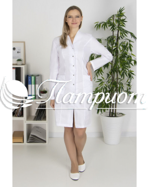 Халат медицинский женский «Модельный+» ткань ТИСИ Модель 10